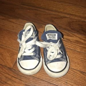 Infant Converse Sneakers Size 6 Navy Blue-Ish